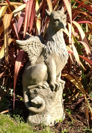 gothic gryphon statue for the garden