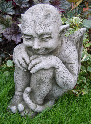 Imp gothic stone statue for the garden