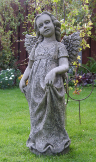 Grace stone angel statue for the garden