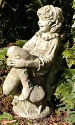 Pip fairy stone statue garden ornament by Fiona Jane Scott